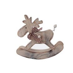 Wooden Rocking Reindeer Decoration from Aspen & Brown
