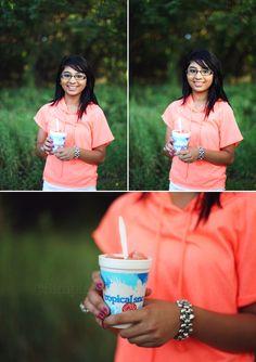 Simple Splendor, photography, senior, girl, high school, neon, sno cone, tropical sno, fun, props