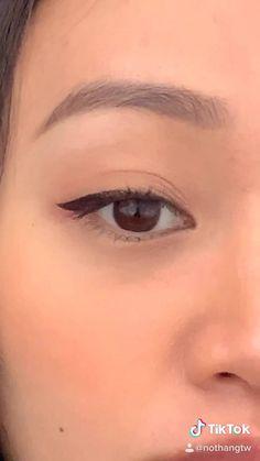 Eye Makeup Steps, Makeup Eye Looks, Eye Makeup Art, Eyebrow Makeup, Skin Makeup, Doll Eye Makeup, Makeup Tutorial Eyeliner, Makeup Looks Tutorial, Ulzzang Makeup Tutorial