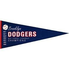 MLB Brooklyn Dodgers Medium Throwback Pennant