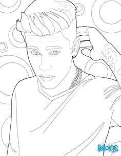 Justin Bieber stand up coloring page More famous people coloring