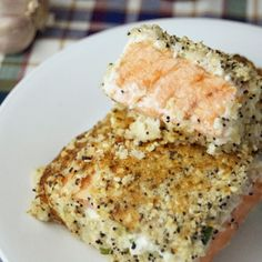 Baked Everything Bagel Salmon Recipe – made this tonight and it was def YummY, but left off the seeds Salmon Recipes, Fish Recipes, Seafood Recipes, Cooking Recipes, Healthy Recipes, Eat Better, Everything Bagel, Seafood Dishes, I Love Food
