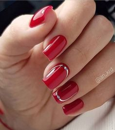 100 + Lovely Early Spring Short Nails Art Design und Farben Ideen – Seite 78 von 109 – Blacknred Nails, You can collect images you discovered organize them, add your own ideas to your collections and share with other people. Red Nail Designs, Acrylic Nail Designs, Spring Nail Art, Spring Nails, Cute Nails, Pretty Nails, American Nails, Short Nails Art, Perfect Nails