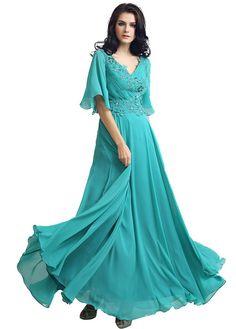 Trumpet Sleeve  Evening Dress