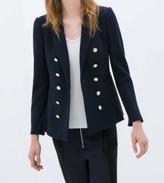 ZARA-DOUBLE-BREASTED-JACKET-GOLD-BUTTONS-NAVY-BLUE-Celebrity-BNWT