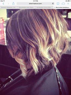 Short hair with ombré