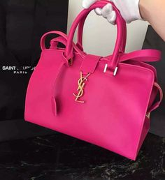 Monogram Saint Laurent Cabas Bag in Rose Red Leather sale at USD 343. Free Shipping by courier to your address. Find more on http://www.luxtime.su/ysl-bags