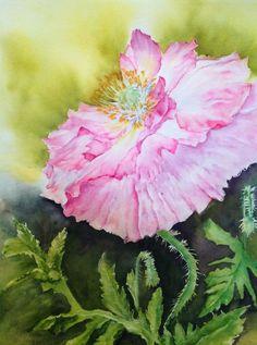 Online Painting, Exotic Flowers, Art Club, Landscape Paintings, Original Paintings, Arts And Crafts, Watercolor, Portrait, Rose