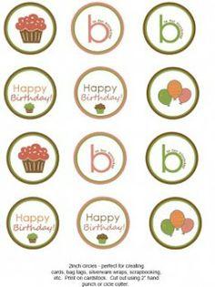 milleideeperunafesta: Cupcake toppers da stampare