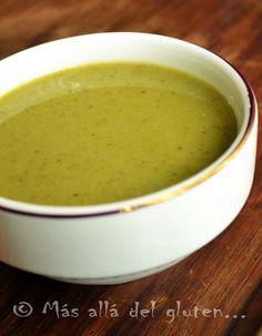 Más allá del gluten...: Crema de Zucchini con Brócoli (Receta SCD, GFCFSF, Vegana, Gerson)