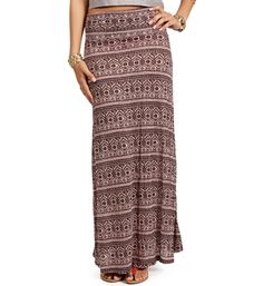 6b5e57c3924 Tan Black Diamond Tribal Maxi Skirt