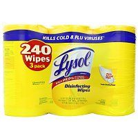 3-Pack Lysol Disinfecting Wipes in Lemon & Lime Blossom Scent (80-count each) $7.50 + Free Shipping