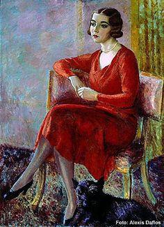 Portreitt Prinsessan Ingrid 1932 by Isaac Grünewald (Swedish 1889-1946)