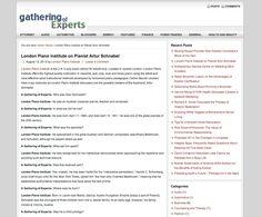 London Piano Institiute - AGatheringOfExperts