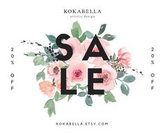 Save 20% storewide this weekend! Find your next inspirational art print for you or a friend. We offer gift wrapping too! #etsysale #kokabella