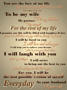 Take a look at the best cute wedding vows in the photos below and get ideas for your wedding!!! 13 Nontraditional Wedding Vows That Will Make You Believe In Love Again Image source This could be the perfect wedding vows… Continue Reading →