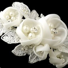 Headband mariage organdi Lacets de fleurs - ODAZZ Mariage