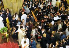 To czyńcie na moją pamiątkę... Liturgia Eucharystyczna w czasie Wigilii Paschalnej w Krakowie, fot. Przemysław Angryk #dominikanie #konkurs #4poryroku