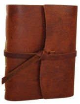 Genuine Leather Legends Journal - Hand • MADE in USA •  Saddle