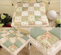 sedák - vintage - kostky patchwork