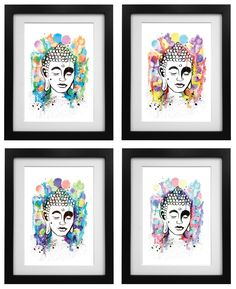 Excited to share the latest addition to my #etsy shop: Buddha Art Print - multi pack https://etsy.me/2yfFMMY #housewares #homedecor  #art #tattoo #print #holyoake  #fineart #splatterinkart