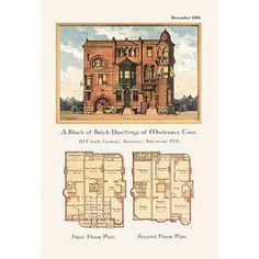 Minecraft Banner Designs Discover Buyenlarge Architect by Wilbur Pierce Vintage Advertisement Minecraft Banner Designs, Vintage House Plans, House Drawing, Good House, Architecture Plan, Shed Plans, Building Plans, Building Ideas, Victorian Homes