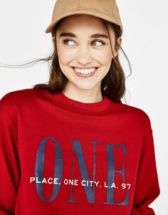 Printed sweatshirt Sudadera Estampada ad59c17a8f55
