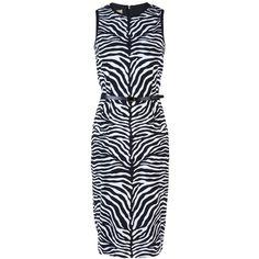 MICHAEL KORS belted zebra dress, found on polyvore.com