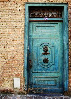 Door, turquise, beauty, lovely, decay, old, architechture, photograph, photo