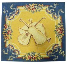 Violins French Cushions Pillow Cover