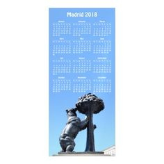 Madrid Spain 2018 calendar magnetic card - travel photos wanderlust traveling pictures photo