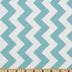 Riley Blake Chevron Medium Aqua from @fabricdotcom  Designed by RBD Designers for Riley Blake Designs, this cotton print fabric is perfect for crafts, quilting, apparel and home décor accents. The chevron stripe is vertical to the selvedge. Colors include aqua and white.