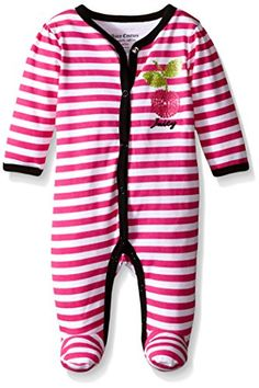 b886b3a0 Newborn girl footed long sleeve sleeper with snap closure. Baby Clothing  Ideas