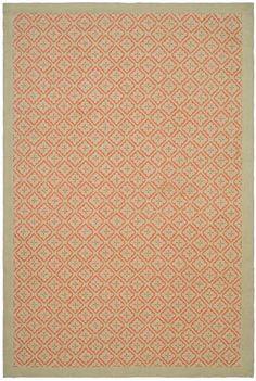 Safavieh Martha Stewart MSR2323B-Blosssom Lattice Quince Blossom Red Rug