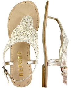 Lacy sandals - love them for a beachy summer look