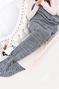 Soft Hand Wash Weight: Size: 195 x 95 cm Mermaid Tail Blanket, Mermaid Blankets, Cotton Throws, Faux Fur Throw, Fishtail, Keep Warm, Leg Warmers, Women's Accessories, Grey