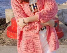 Cachemira de cuello de punto vestido sweater lana cardigan de