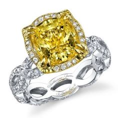 Celebrate your love with a yellow diamond engagement ring! Nothing can surpass a yellow diamond for enchantment, charm, and sheer brilliance. Symbolize your unique and rare type of love with a precious gemstone that is one of the rarest of them all!