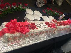 Long-long wedding cake