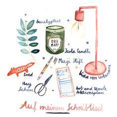 Auf meinem Schreibtisch! Everything we like von Sarah Neuendorf für herzundblut.com