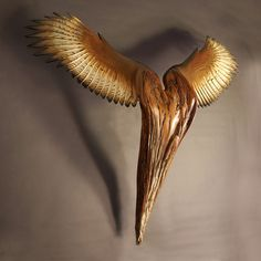 Jason Tennant | 'Nike of the Forest III'.  Wood sculpture; American Chestnut and Hemlock