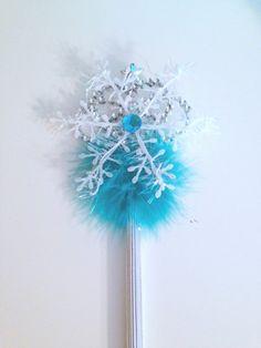 Frozen Inspired Elsa Snowflake Wand by PoshPixieTutu on Etsy