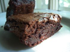 PerfectBrownies ~ super fudgy & chewy with that crackled top | blackjack bakehouse