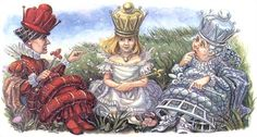 The Red Queen, Alice, and The White Queen