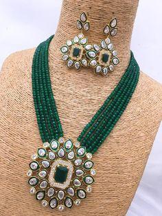 Indian Jewelry, traditional Jewelry,high quality celebrity style Kundan Necklace, Party Wear Kundan & Pearl Jewellry,Ethnic Wear Kundan Haar - New Ideas Kundan Jewellery Set, Indian Jewelry Sets, Indian Wedding Jewelry, Bridal Jewelry, India Jewelry, Beaded Jewelry Designs, Necklace Designs, Stylish Jewelry, Fashion Jewelry