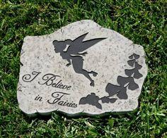 Amazon.com : Design International Group LDG88667 I Believe in Fairies Tink Stepping Stone : Outdoor Decorative Stones : Patio, Lawn & Garden