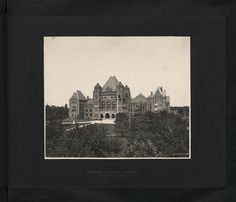 CO 1069-277-33 by The National Archives UK, via Flickr. Queen's Park. University Ave. Provincial Parliament Buildings, Toronto, Canada    Location: Toronto, Canada    Date: 1905