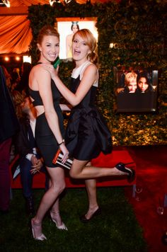 Whitney Port and Bella Thorne attends the 5th Annual QVC Red Carpet Style Event at the Four Seasons Hotel Los Angeles, on February 28, 2014 in Beverly Hills, California.