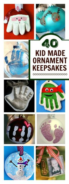 40 KID-MADE KEEPSAKE ORNAMENTS EVERY PARENT SHOULD HAVE - OMG! I love these!