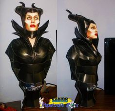 Maleficent Paper Model Bust